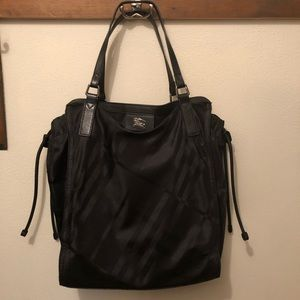 Authentic Burberry nylon tote Black